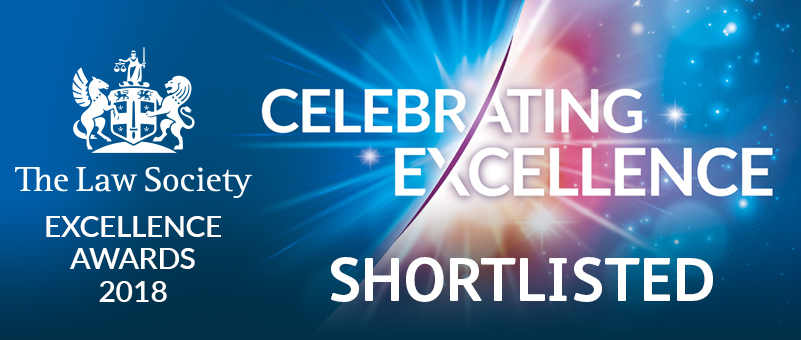 Law Society Excellence Awards 2018 Shortlist reduced