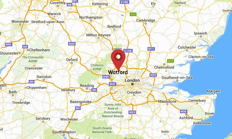 Map Of Watford Watford England Map | Campus Map