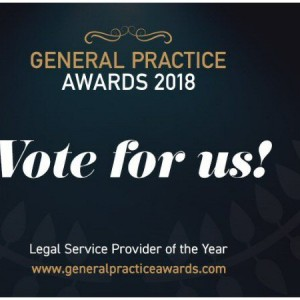 Vote For Us - GP Awards 'Legal Service Provider of the Year' 2018