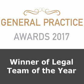 General Practice Awards 2017 - Healthcare Legal Team of the Year