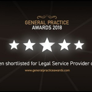 VWV Shortlisted for GP 'Legal Service Provider of the Year 2018' Award
