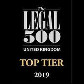 Legal 500 Top Tier Law Firm Logo 2019