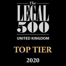 Legal 500 Top Tier Law Firm Logo 2020