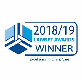 Excellence in Client Care - LawNet Awards Winner 2018-19 - VWV Solicitors