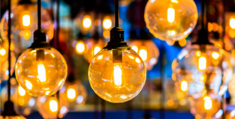 FE IP protection lawyers - suspended lightbulbs photo