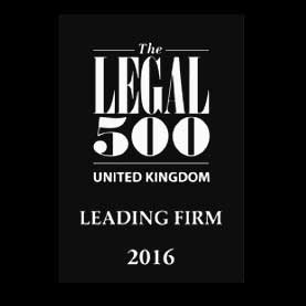 VWV Solicitors - Legal 500 Leading Firm 2016 Logo